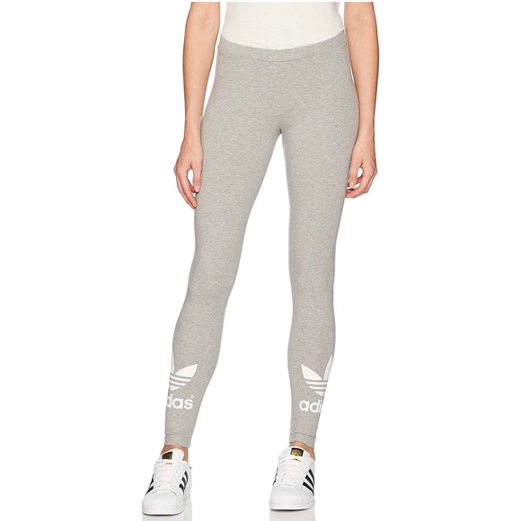 2efe9a4875d adidas Pants   Womens Originals Gray Tights   Poshmark